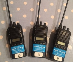 Some of the radios we have for hire