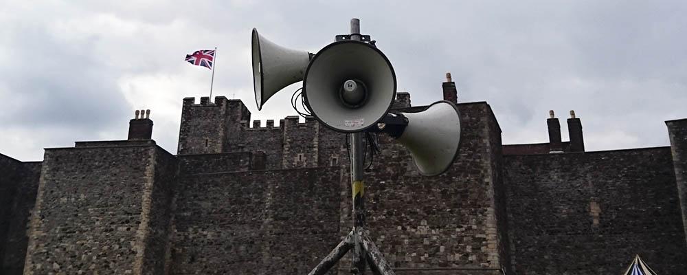 Securely installed waterproof speaker system over used multiple days.